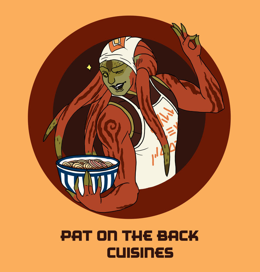 Pat on the Back Cuisines Logo (Contest Entry) by Swallow-of-Fire8091