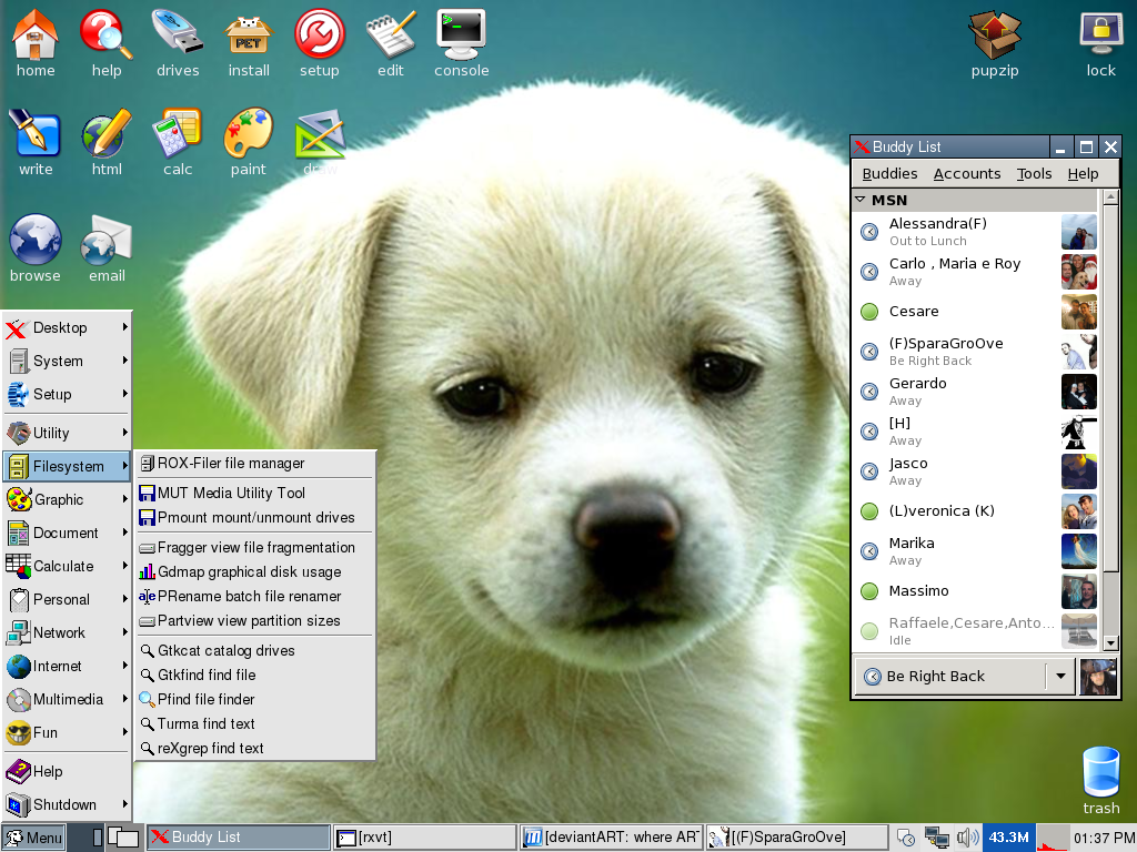 Puppy Desktop by MarcoFiorilli