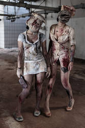 Silent Hill Nurses by MarcoFiorilli