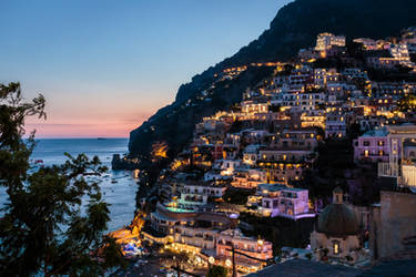 Positano by Night by MarcoFiorilli