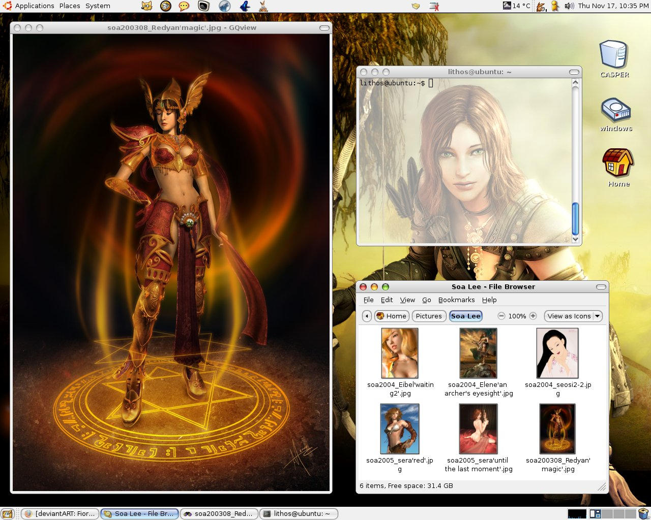 Korean Fantasy Desktop by MarcoFiorilli