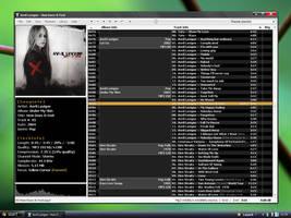 Blacky Foobar Desktop by MarcoFiorilli