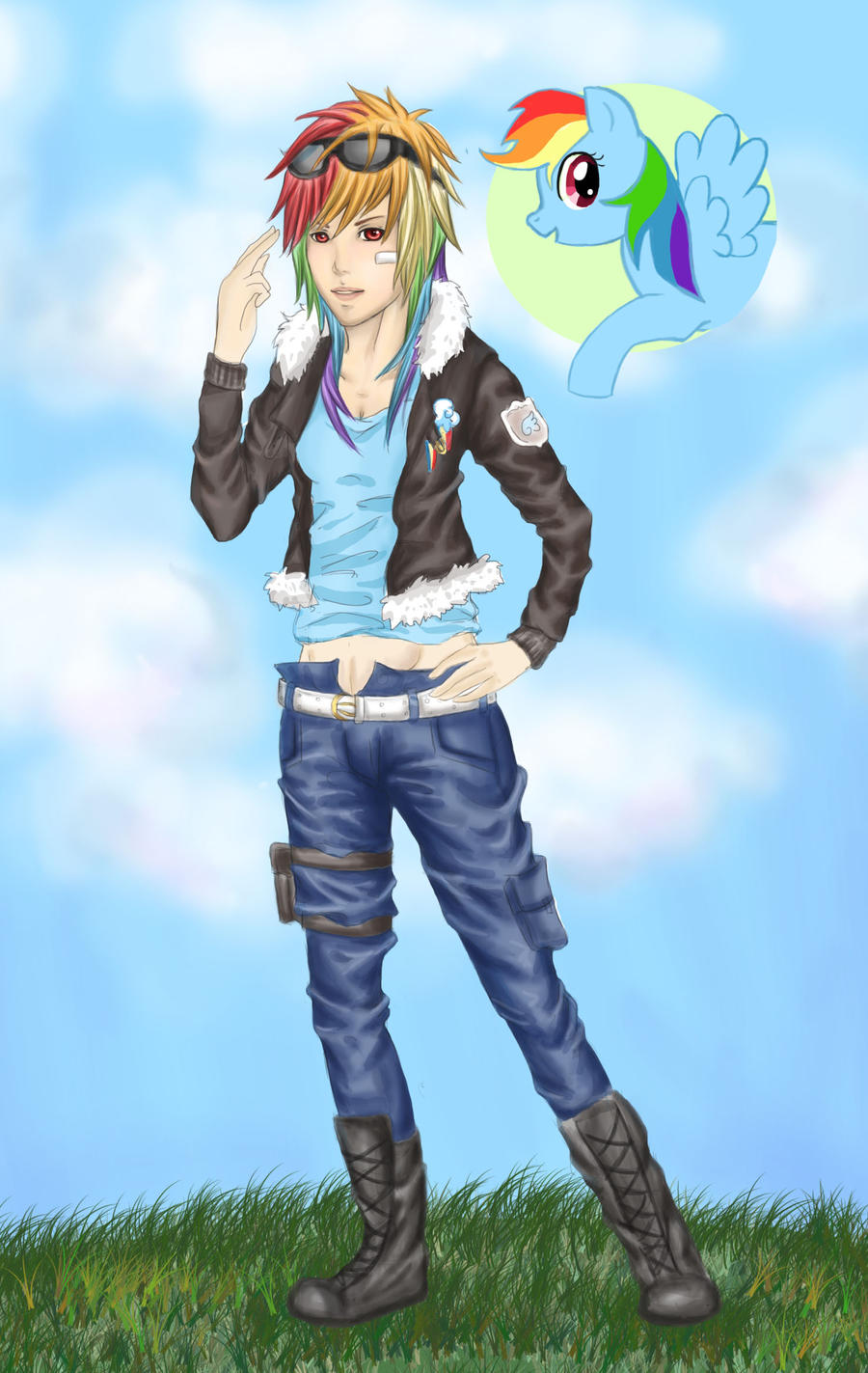 Rainbow Dash as a Human in Real Life Human Rainbow Dash by