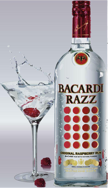 Bacardi Bottle and Glass by IrIshBooZer on DeviantArt