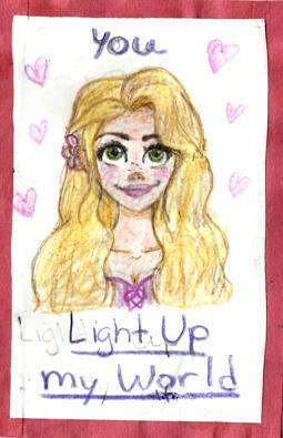 Rapunzel Valentines Day Card by DazedDaisiesO-o