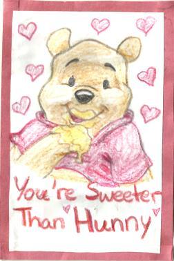 Winnie The Pooh Valentines Day Card By DazedDaisiesO O ...