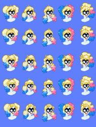 Harley Quinn Hair Bases - Blonde Hairstyles p.2