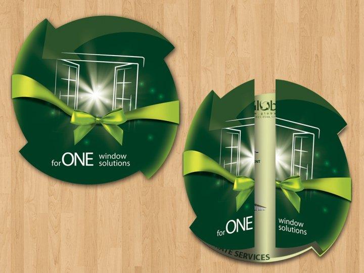 Brochure in round shape