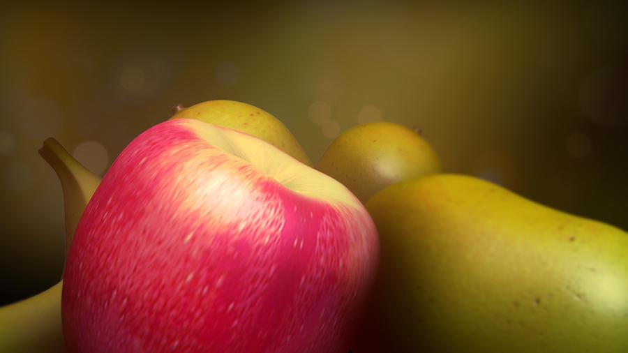 3d Showreel Inoace design studio - fruits in slow motion