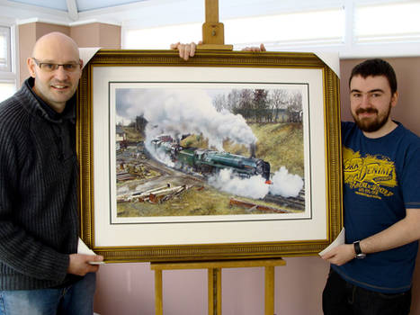 Framed Epic painting