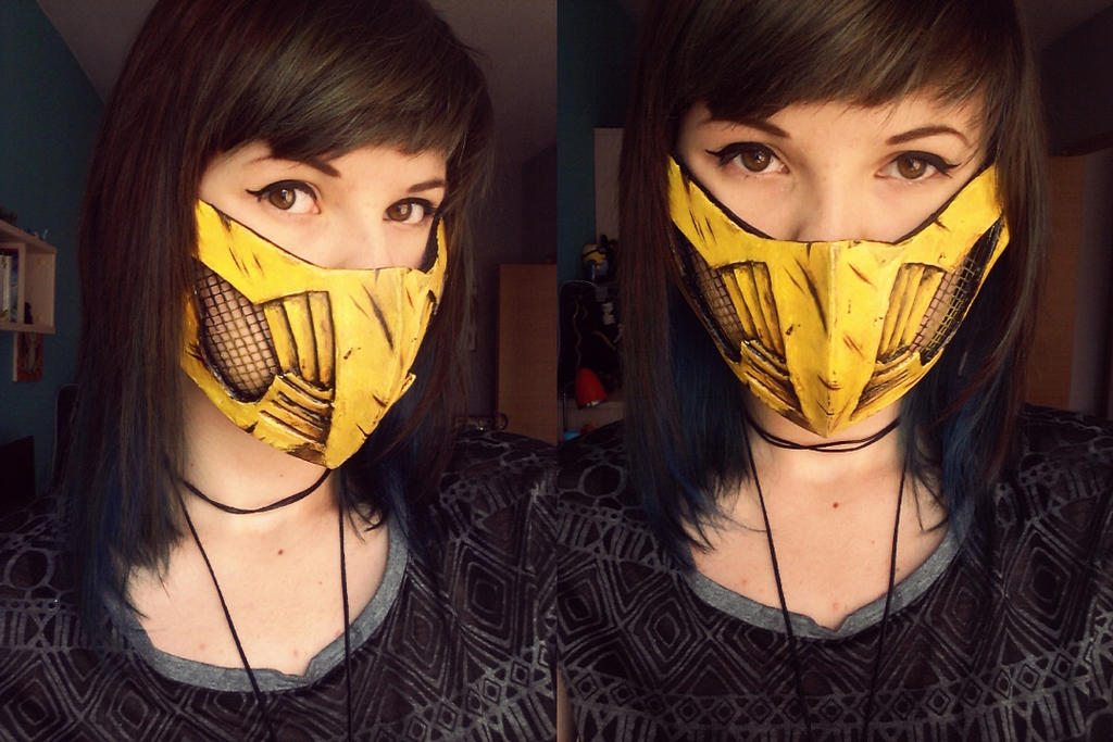 Mortal Kombat X Scorpion S Mask By Zebrachanworkshop On Deviantart