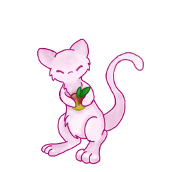 Mew's holding a berry by PokeFanRuby