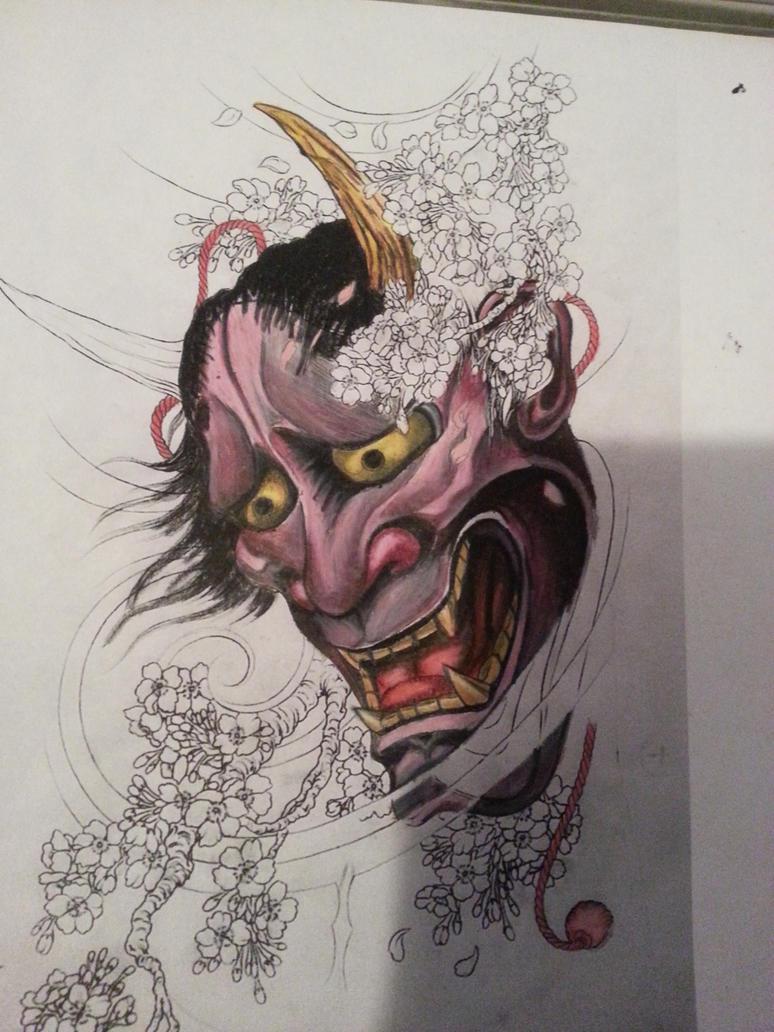 japanese Hanya mask by AlucarD7x7 on DeviantArt