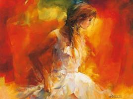 Elegance - Hand Painted Oil Painting on Canvas by Novadeko