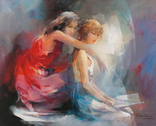 Best Friends - Oil Painting on Canvas by Novadeko