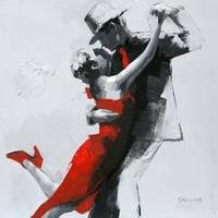 Eternal Love' Contemporary Art Canvas oil Painting by Novadeko