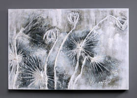 Abstract Flower Artwork - Lotus Morning Haze by Novadeko