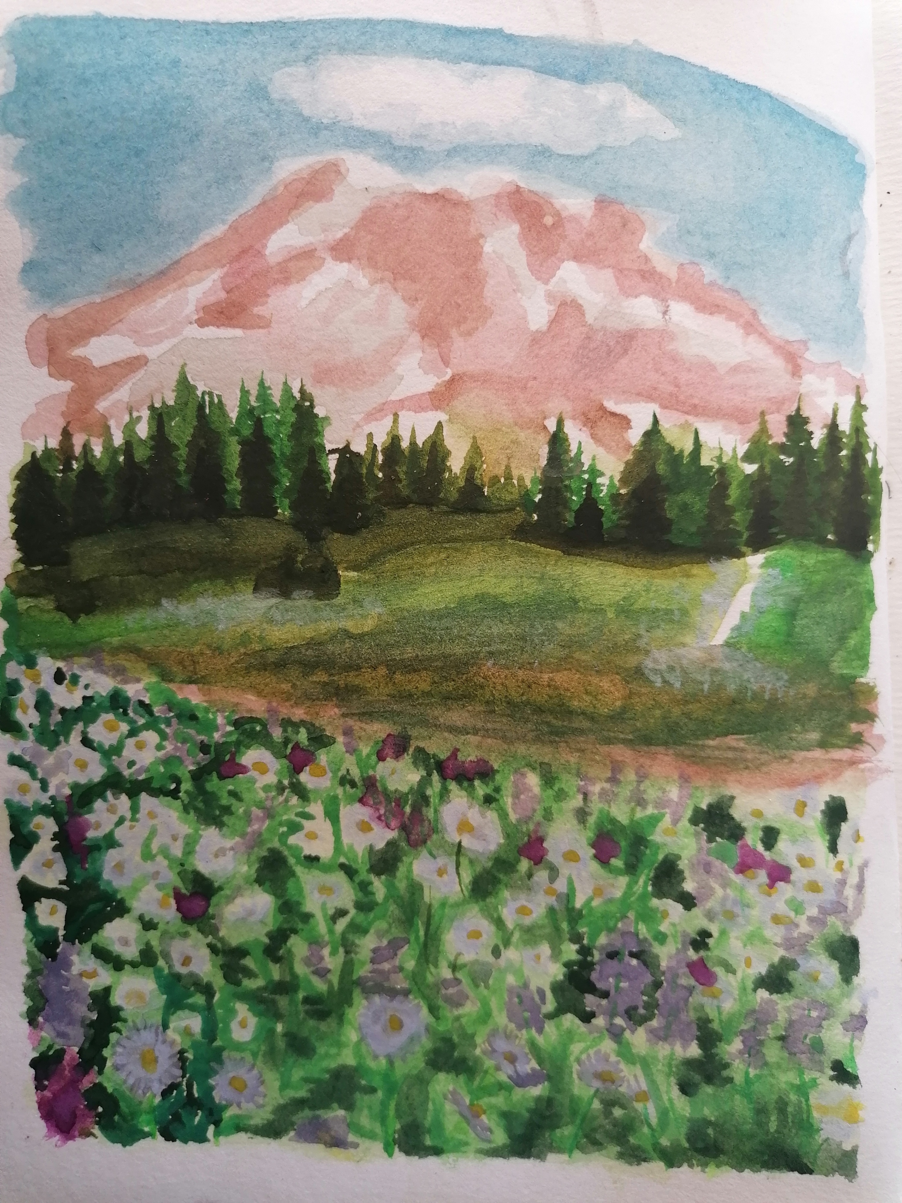 quick watercolor study