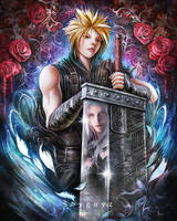 Cloud vs Sephiroth by ShyguyzArt
