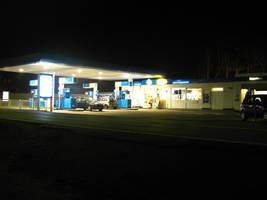 Nightly Gas Station by Rylius