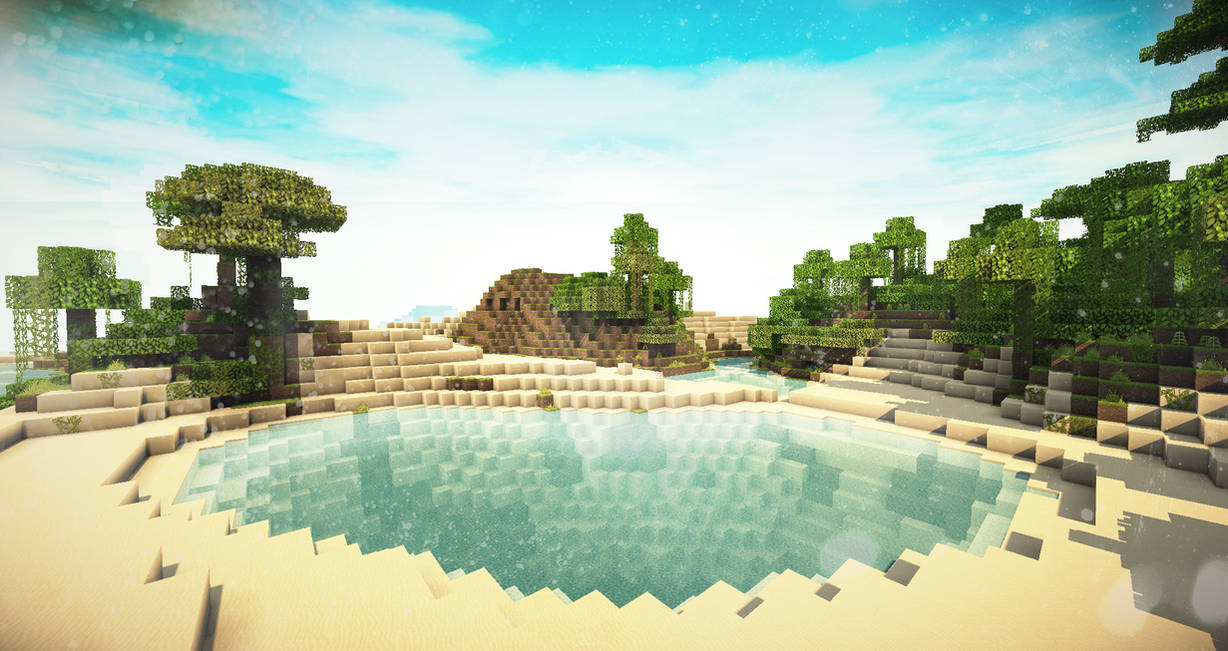 Minecraft 3 Beautiful Desert Lake By X4ct1on On Deviantart