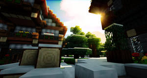 Minecraft $14 - Town Sunlight by x4ct1on