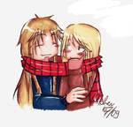 the happiness is a warm scarf