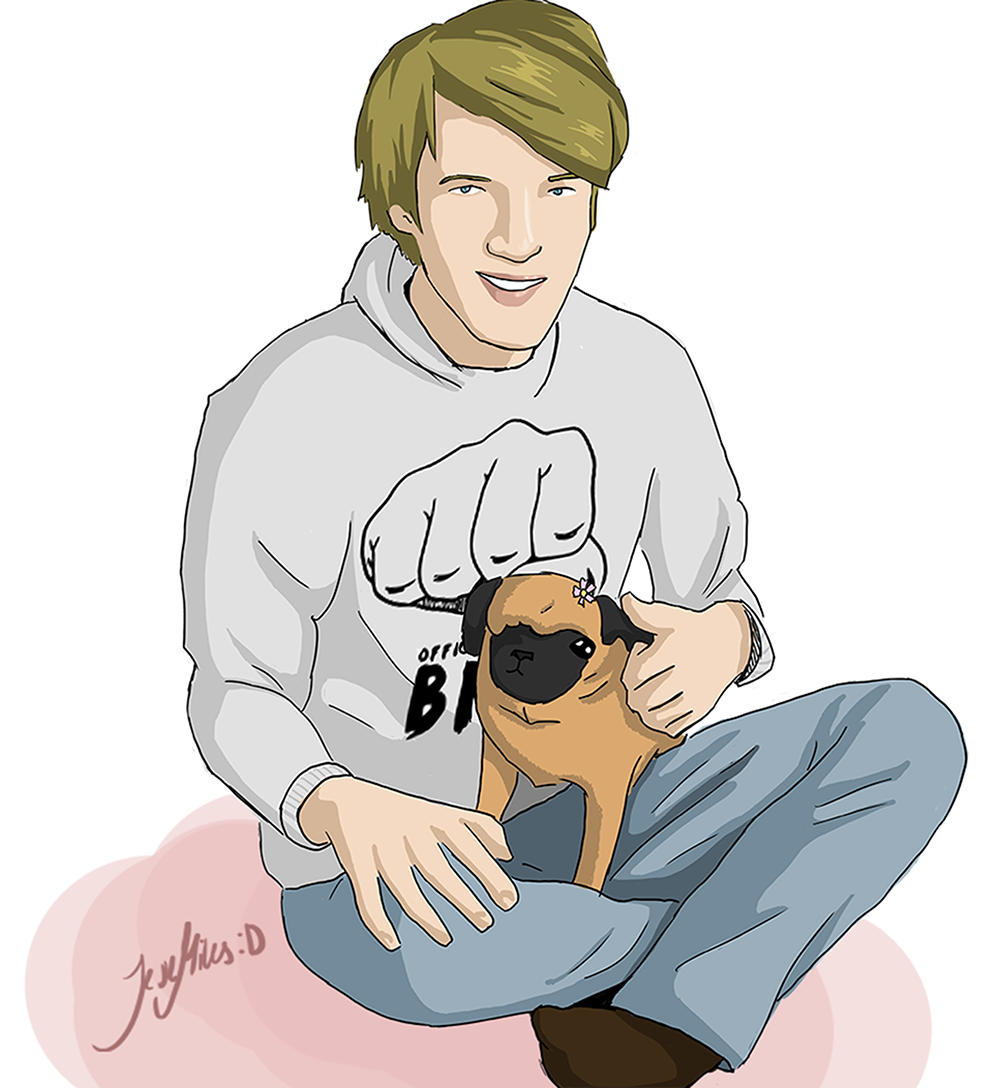 Pewdiepie and Maya by Aoi-nikkou