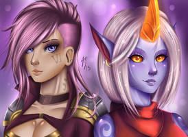 LoL - Vi and Soraka by DoomXWolf