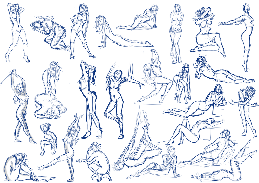 Female Pose Practice by SajoPhoe on DeviantArt