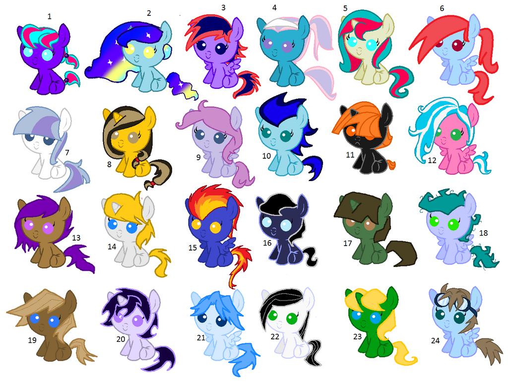 Huge pony adopts 1 (OPEN) (PRICE LOWERED) by Phantom-Rainbow