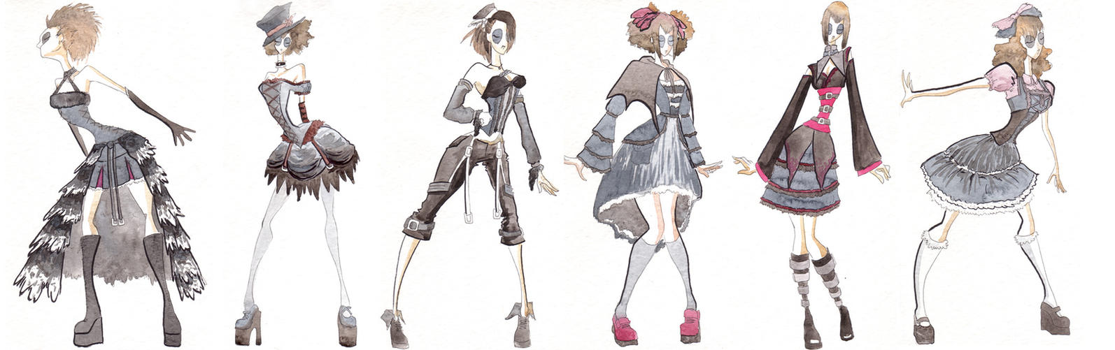 Gothic Clothes Designs By Cold Blooded Angel On Deviantart