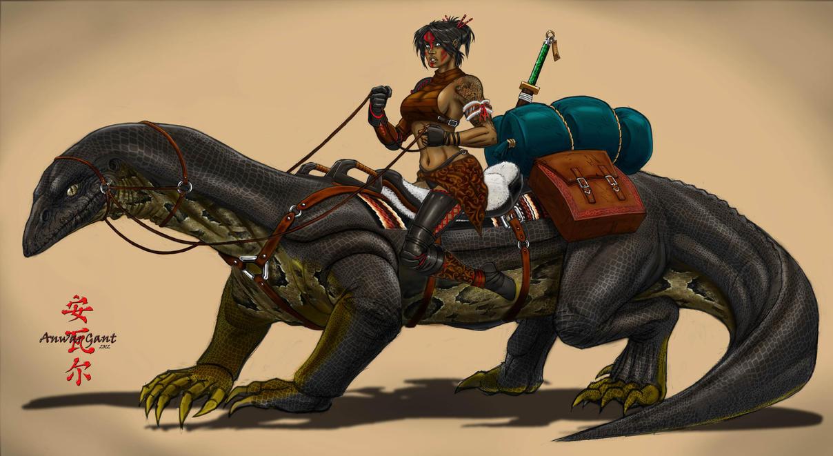 ♕ SPIRIT BRINGERS: EMPYREAN REALM. (SAGA DE AMAGI) - Página 7 Lizard_rider_by_geminisoku-d85jdvl