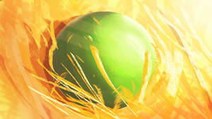 Just a Green Sphere