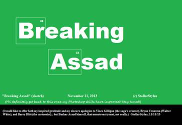 Breaking Assad sketch by StellarStylus