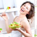 GREAT WOMAN EATING HER SALAD (MUST SEE) by Geno1906