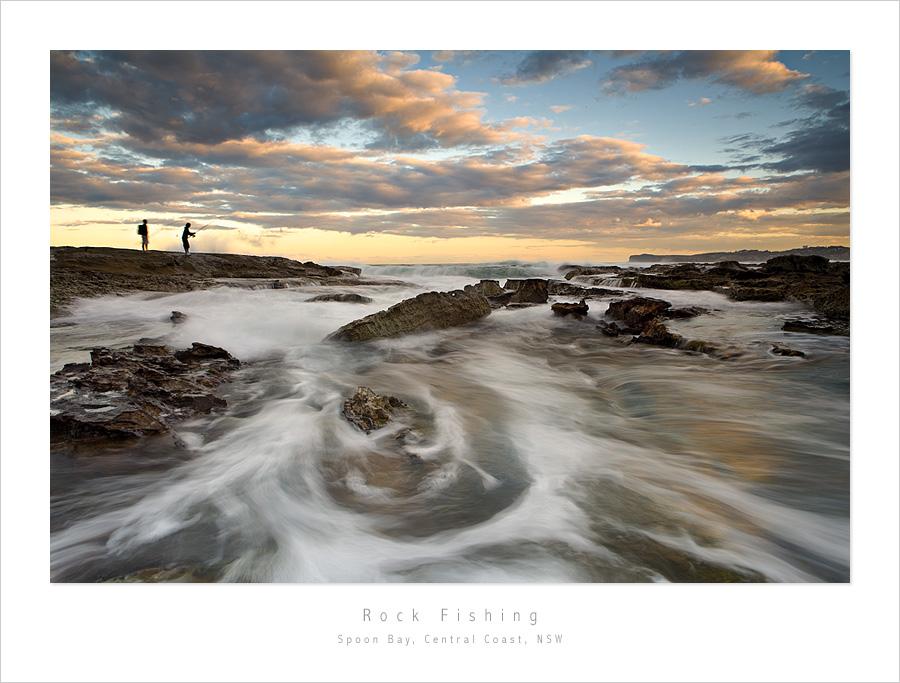 Rock Fishing, Spoon Bay, NSW by MattLauder