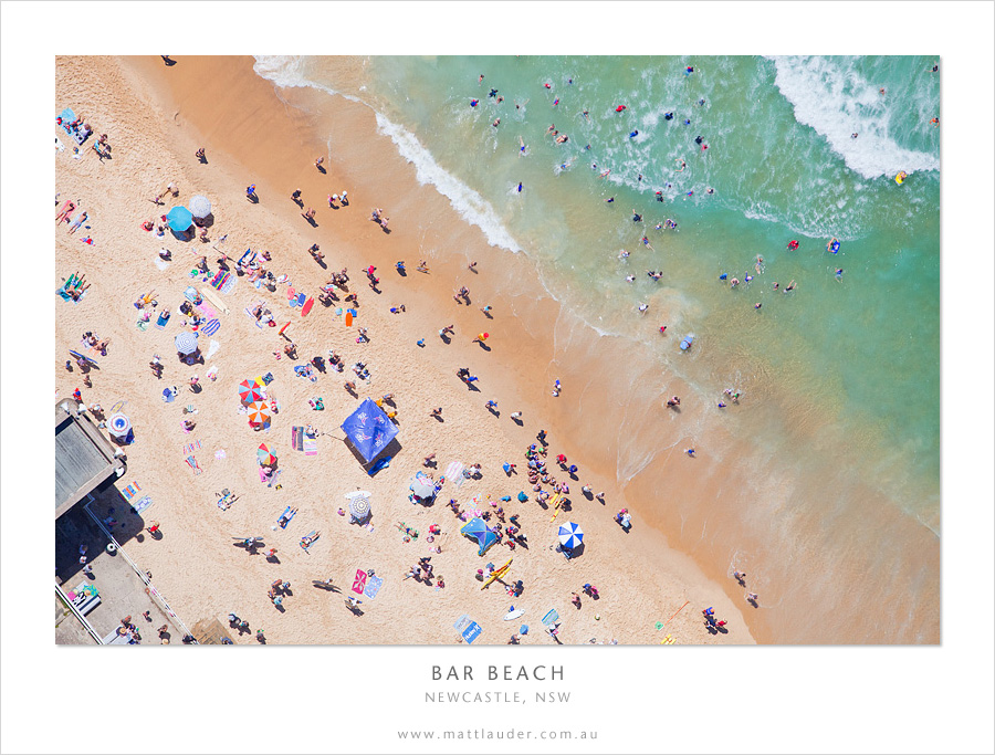 Bar Beach, Newcastle, Aerial by MattLauder