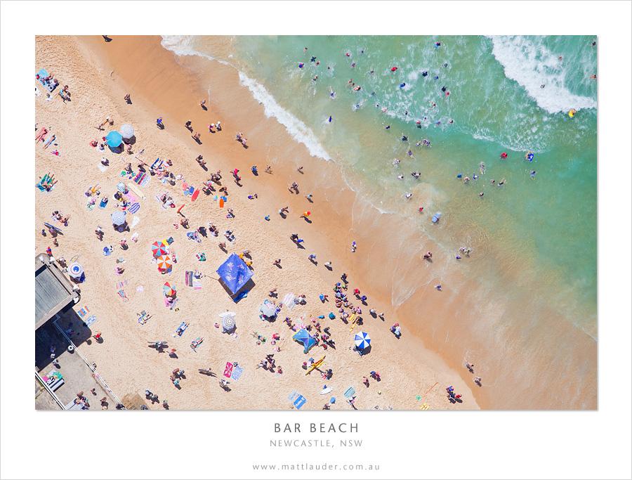 Bar Beach, Newcastle, Aerial by MattLauder
