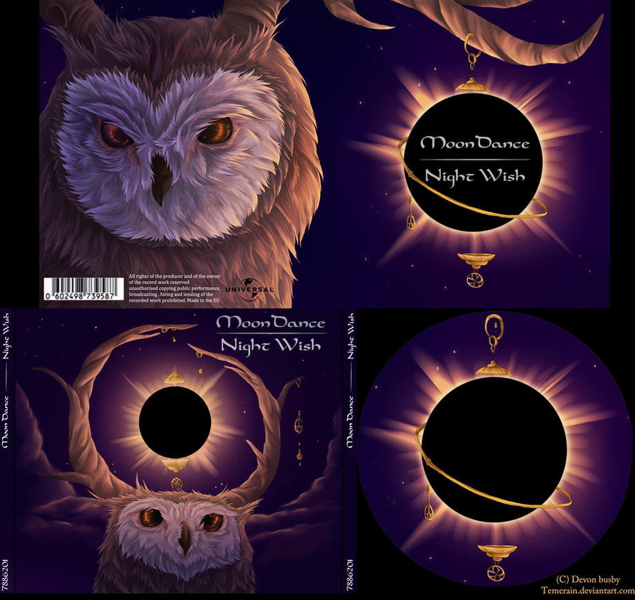 cd case project- moondance by Temerain
