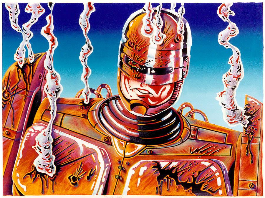 RoboCop Silkscreen by Bugstomper86