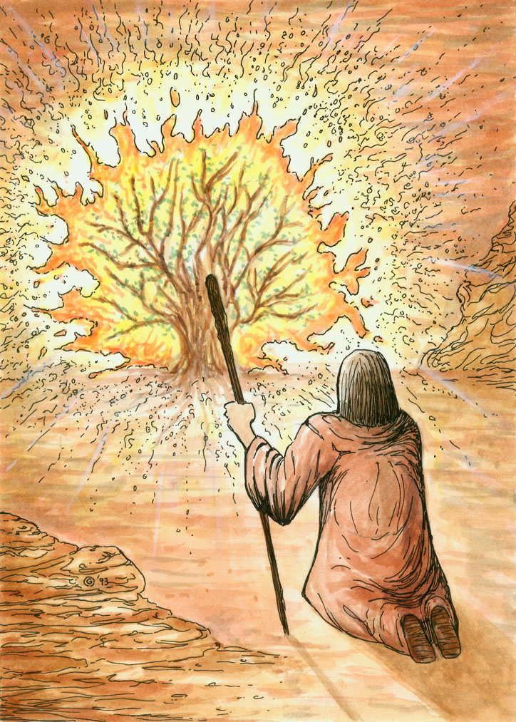 Moses And The Burning Bush By Bugstomper86
