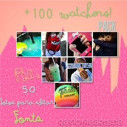 +100 Watchers. Pack! by RainOfHearts
