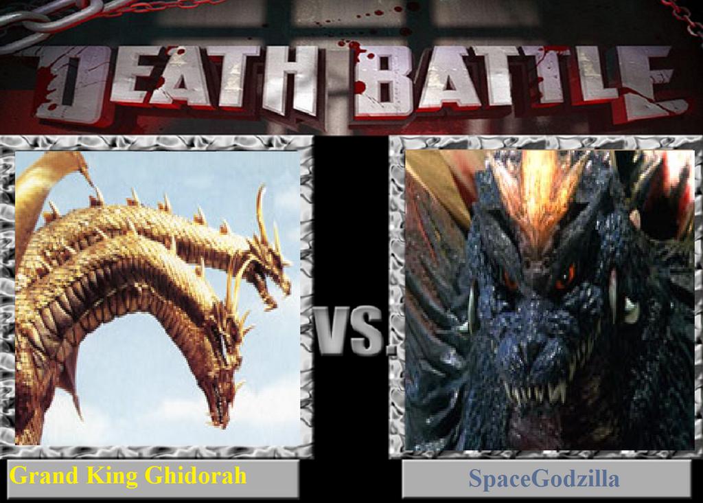 Spacegodzilla vs mecha king ghidorah