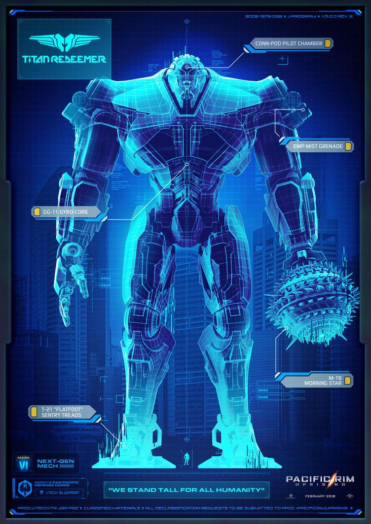 Pacific Rim Uprising Titan Redeemer Blueprints by ... Pacific Rim Blueprints
