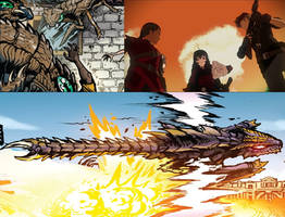 Godzilla WOR - The Witch and The King by Sideswipe217 on