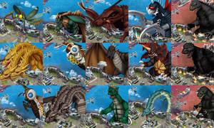 Godzilla Defense Force - Sydney Kaiju Bosses