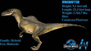 Jurassic World Evolution - Spinoraptor