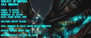 GTS Toho Edition Mothra Character Poster