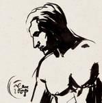 Direct ink sketch: MAN